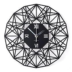 Wall Clock by Paperie,Modern Art a Silent 12-Inch Black Clocks.