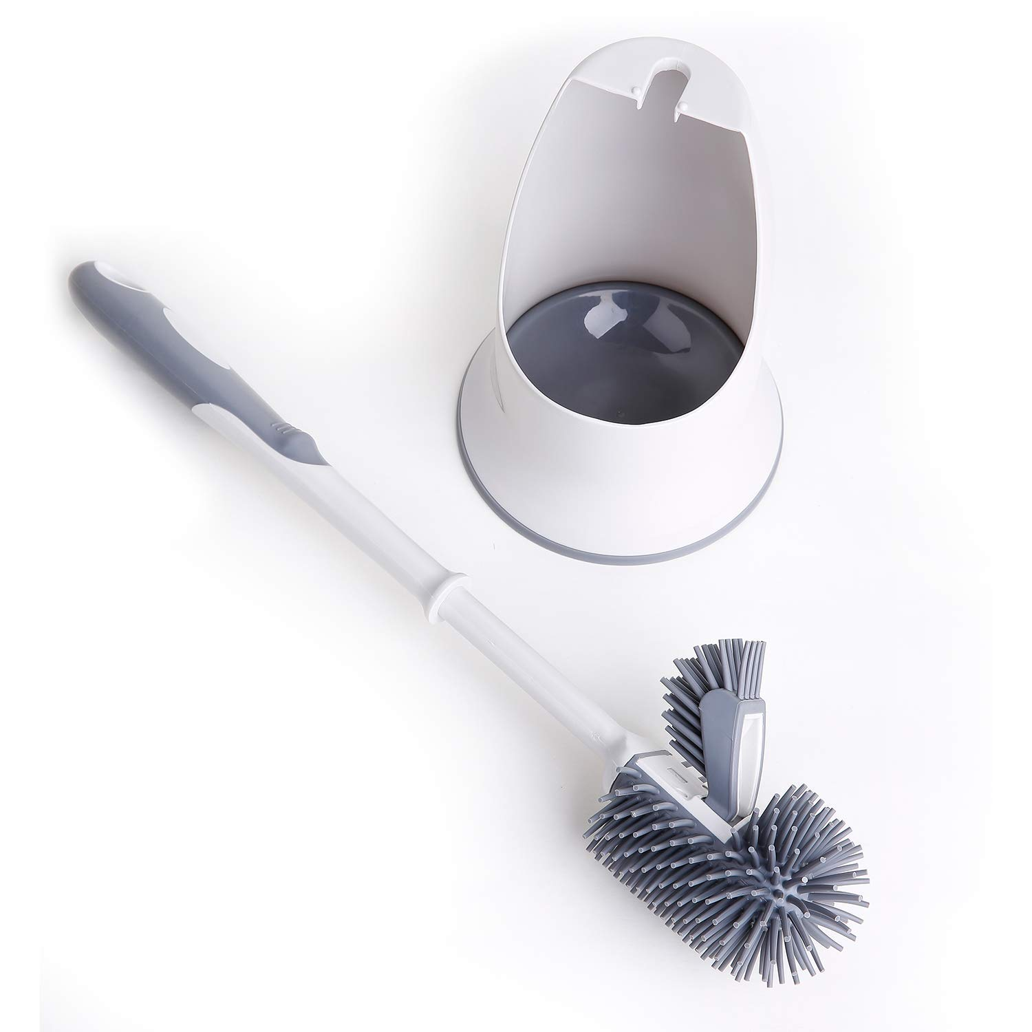 TreeLen Toilet Brush and Holder,Toilet Bowl Cleaning Brush Set,Under Rim Lip Brush and Storage Caddy for Bathroom by TreeLen