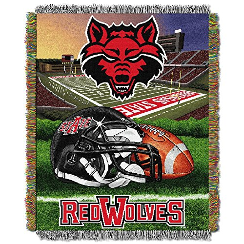 Arkansas State Red Wolves Throw Blanket Afghan Tapestry