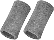 Willbond 6 Inch Wrist Sweatband Sport Wristbands Elastic Athletic Wrist Bands for Sports 2 Pieces
