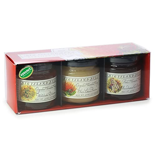 Big Island Bees Gourmet Hawaiian Raw Honey Gift Set