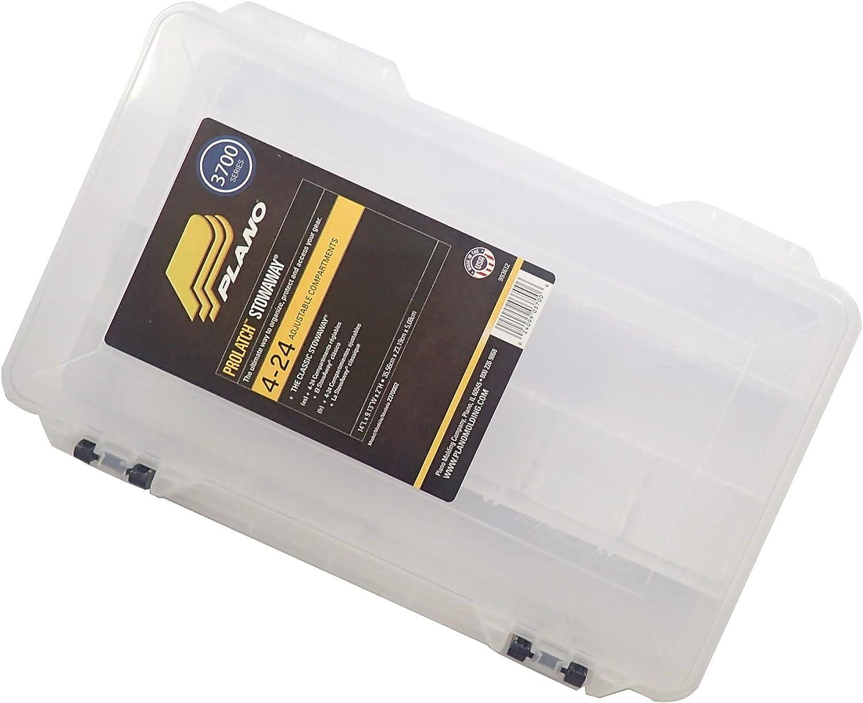 4 Pack Plano 2-3700 Prolatch Stowaway Tackle Box Storage Fishing Bait Utility US