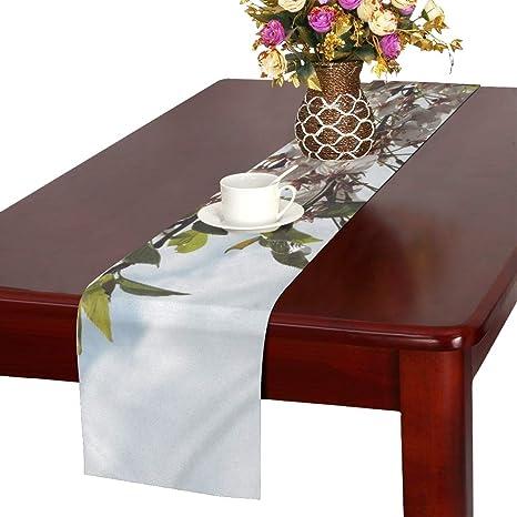 Apple Blossoms White Flower Petal Tree Bud 554808 Table Runner Kitchen Dining