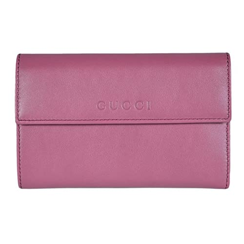 1e2372668fd5 Gucci Women's Leather French Flap Wallet 346057 5535 Dark Rose Pink:  Amazon.ca: Shoes & Handbags