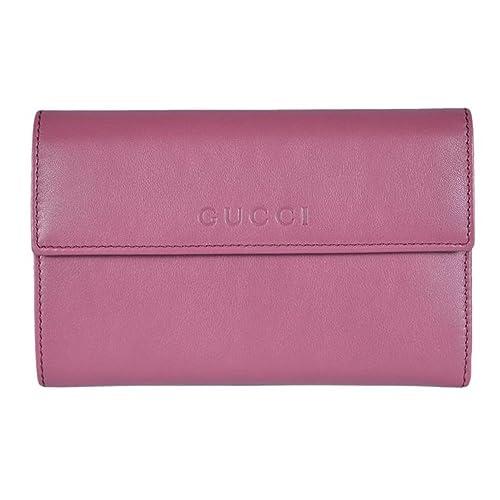 3c3fdb9b510 Gucci Women s Leather French Flap Wallet 346057 5535 Dark Rose Pink   Amazon.ca  Shoes   Handbags