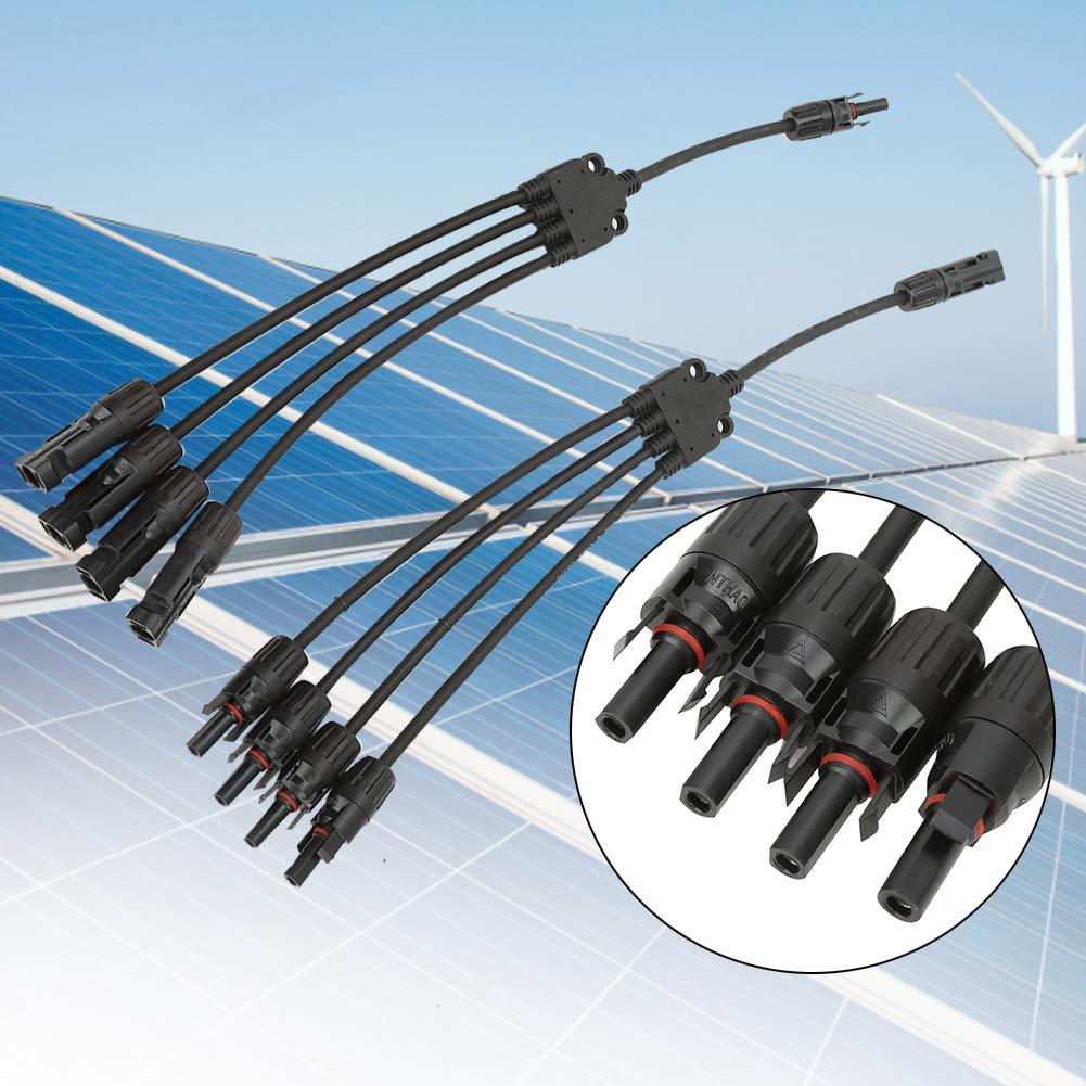 Connecteurs de panneau solaire adaptateur /étanche pour la maison connecteur de c/âble de branchement en Y de panneau solaire MC4 de haute qualit/é 2 pcs