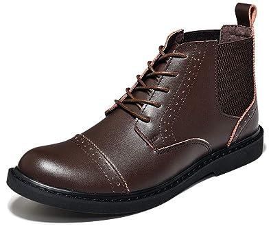 Chaussures Montantes Hommes Bottes de Travail Bottes en Cuir
