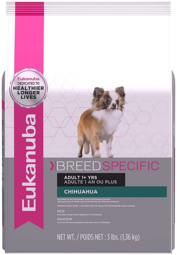 EUKANUBA Chihuahua Breed Specific Adult Dry Dog Food - Best for Chihuahuas With High Energy and Teeth Issues