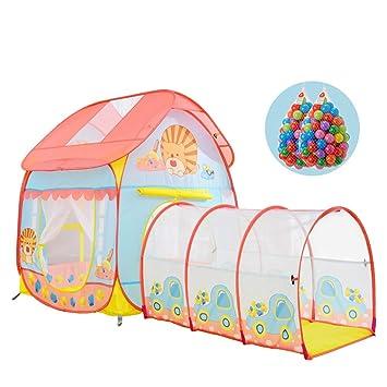 Childrens tent Tienda de campaña para niños Active Ideal para el hogar y el jardín 6 Meses a 6 años de Edad Tienda de campaña emergente para bebé con túnel