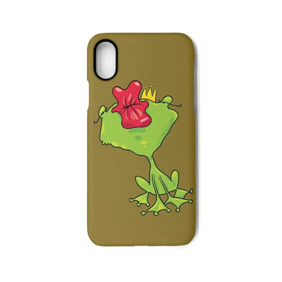 Amazon.com  Prince Frog Crown kiss Best Cute Apple iPhone X case ... a94cecd200