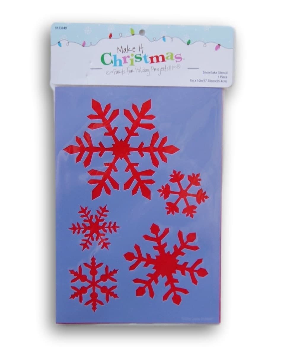 Painting Stencil - Snowflakes - 7 x 10 inches Make it Christmas