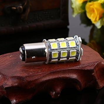 Keenso 1157 BA15D BAY15D 27SMD 5050 Brilliant White LED Light Turn Signal//Brake//Tail//Reverse//Parking Light Bulbs