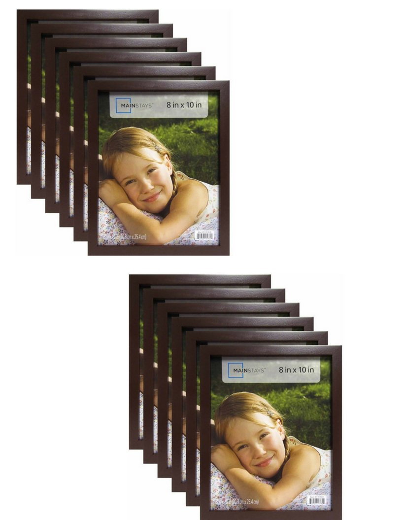 Mainstay` 8'' x 10'' Brown Linear Frame, Set of 12