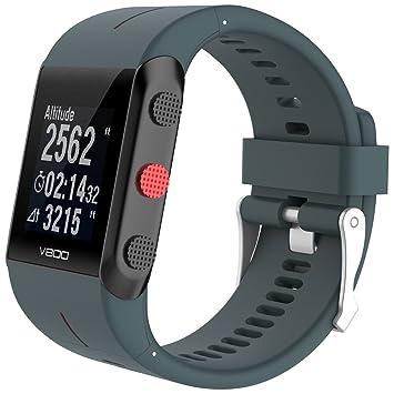 Correa de silicona ajustable de repuesto Rejoicing, para reloj inteligente Polar V800 con herramienta (reloj no incluido), Cyan Blue: Amazon.es: Deportes y ...