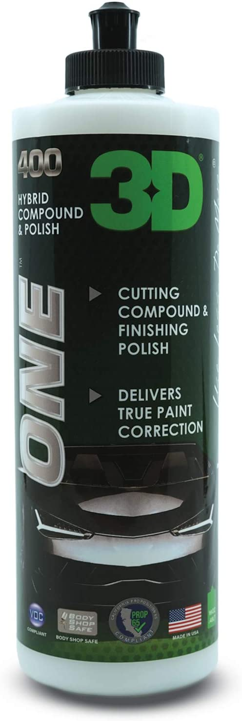 Amazon.com: 3D One - Professional Cutting, Polishing, and Finishing Compound (16 Oz) for Paint Correction, Auto Detailing and Buffing: Automotive