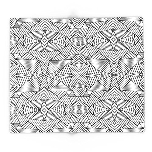 Society6 Abstract Mirror Black On White 88'' x 104'' Blanket by Society6