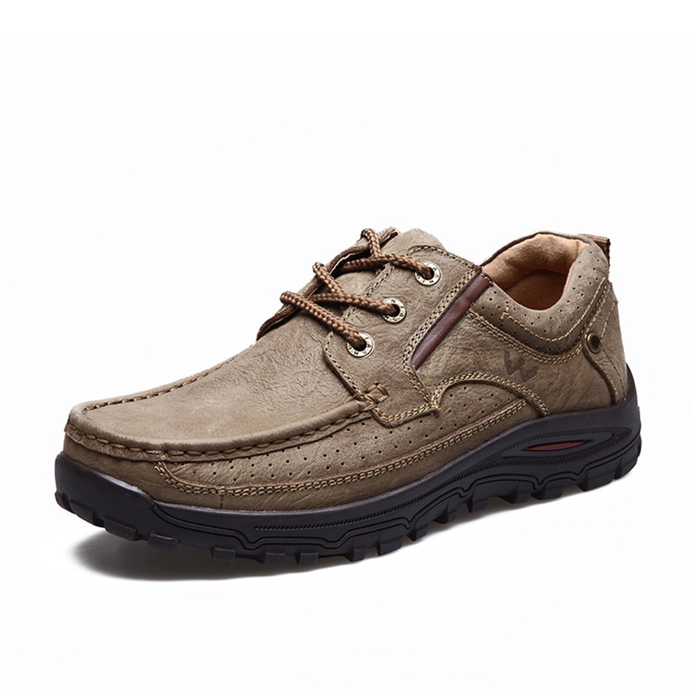 HumgFeng 2016 New Pattern Mens Outdoor Walking Casual Leather Shoes