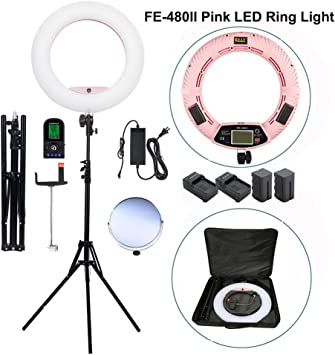 Yidoblo FE-480II LED Studio RingLight Dimmable Pro Warm Cold Lighting Lamp Bag