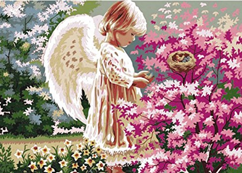 Paint Color By Number Kits,Angel Lovingly,16-Inch by 20-Inch