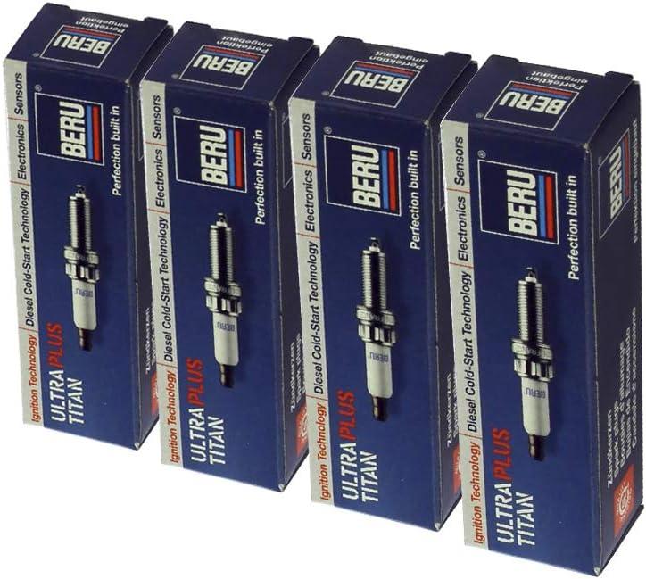 4-Zylinder 4x BERU Z/ündkerze Zuendkerze ULTRA Z332 //// 12 ZR-6 SPP2-1 Set