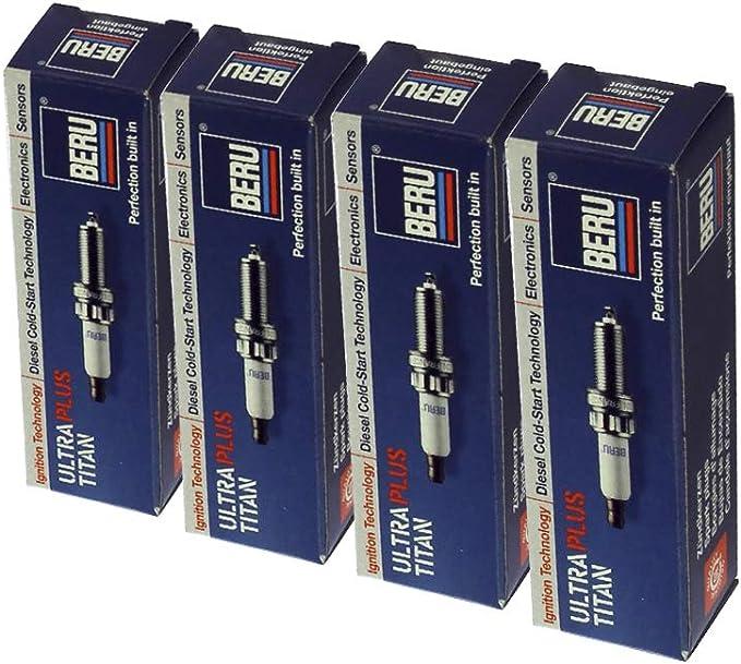 4x Beru Zündkerze Zuendkerze Ultra Titan Upt11p Set 4 Zylinder Auto