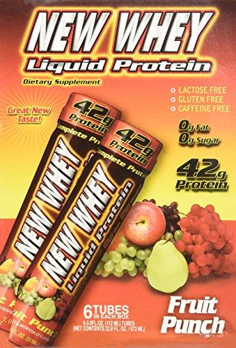 New Whey 42g Liquid Protein Drinks: Fruit Punch, 6 - 3.8oz Drinks - 42 Liquid