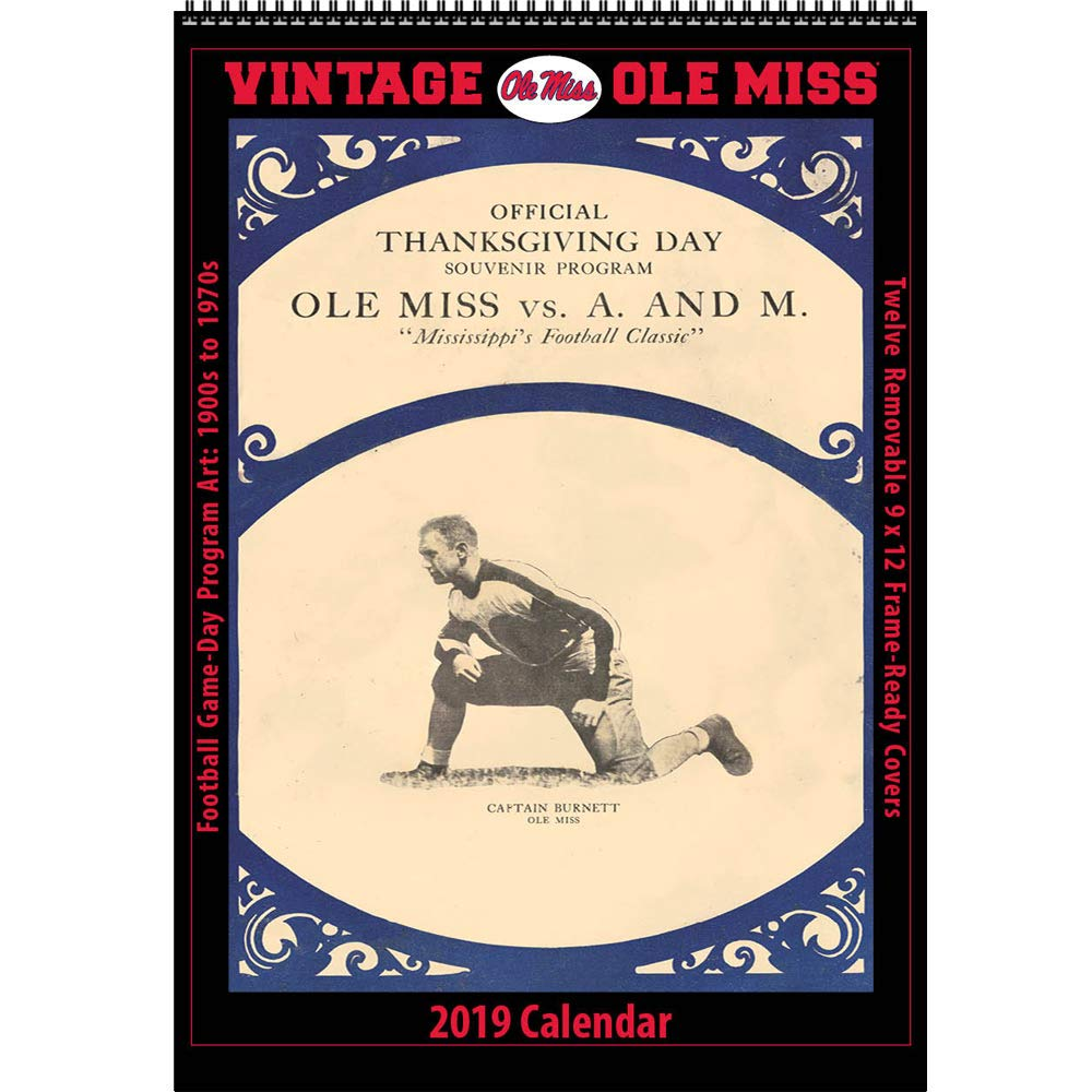 Amazon.com : Vintage Ole Miss Rebels 2019 College Football Calendar :  Office Products