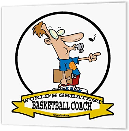Amazon Com 3drose Ht 102963 1 Funny Worlds Greatest Basketball Coach Occupation Job Cartoon Iron On Heat Transfer For White Material 8 By 8