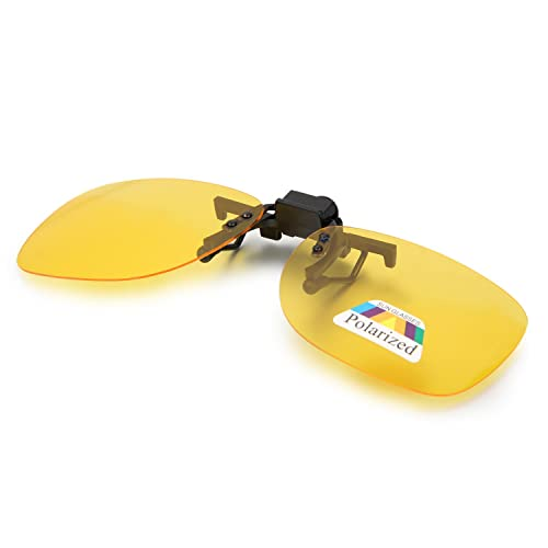 Aroncent Gafa de Sol Polarizada con Clip de Metal Lente Montable contra UV400 para Carreras,