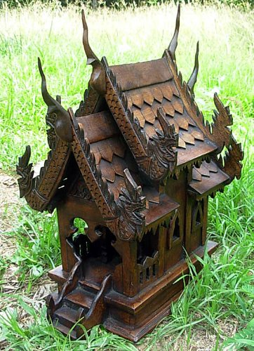 Large Size Thai Buddhism Handmade Spirit House 14x10x16 Wholesale Price Made of Thailand by Thai Spirit House