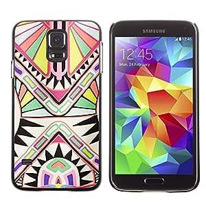 Be Good Phone Accessory // Dura Cáscara cubierta Protectora Caso Carcasa Funda de Protección para Samsung Galaxy S5 SM-G900 // Ancient Art Pattern White