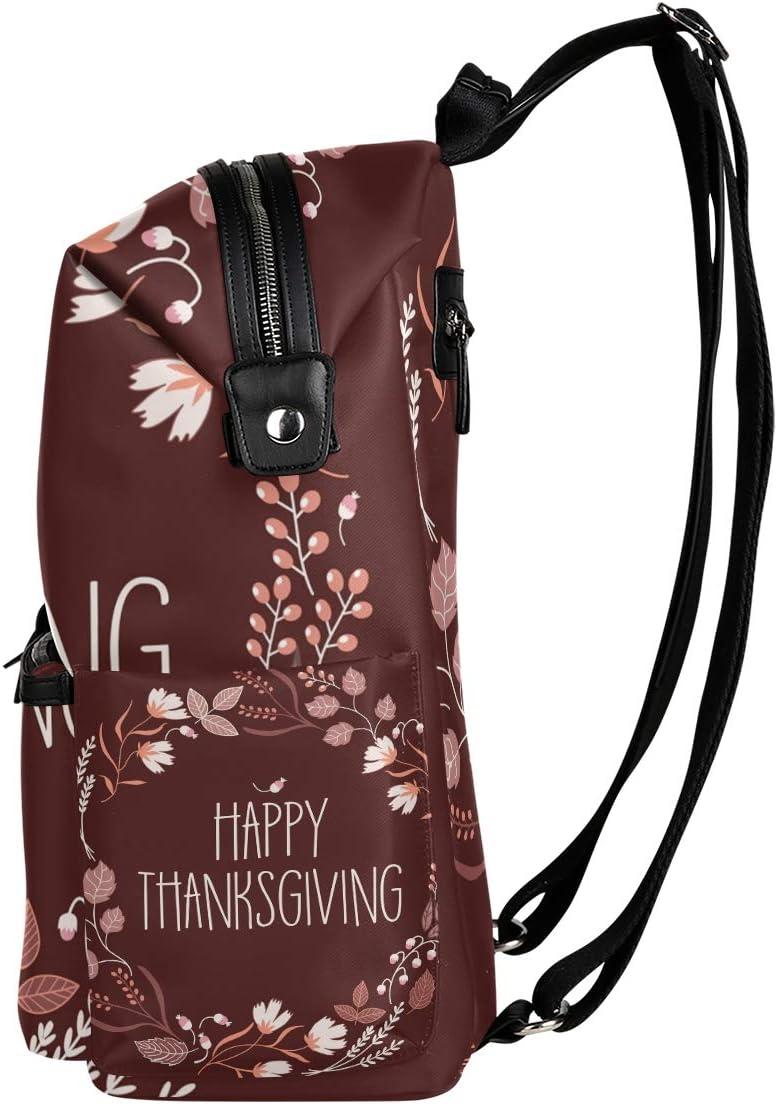 Backpack Rucksack Travel Daypack Happy Thanksgiving Book Bag Casual Travel Waterproof