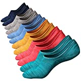 M&Z Mens No Show Low Cut Casual Socks Sneakers Non-Slide Socks for Mens 6Pack
