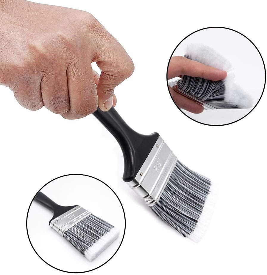 Paint Brush Set 5 PCS Synthetic Paint Brush for Interior and Exterior Painting