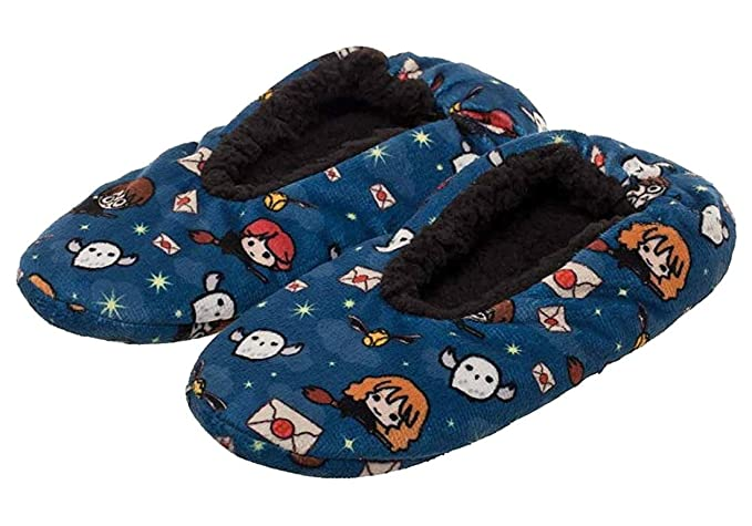 c33e28eaa737 Amazon.com: Harry Potter Slippers Allover Chibi Character Design No ...