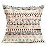 AIMTOPPY Christmas Cartoon Decoration Festival Pillow Case Cushion Cover (E)