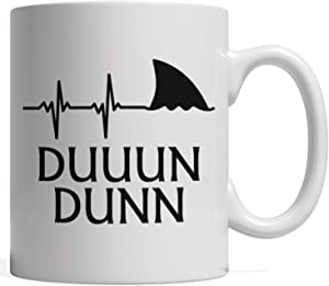 Funny Shark Gift | Heartbeat Fin for Shark Lovers - DUUUN DUNN, Great for Marine Biologists!