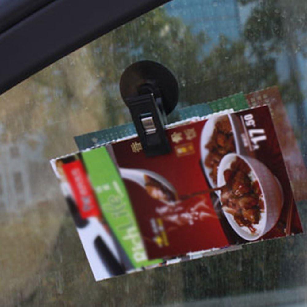 ar Ticket Lip 2pcs Interior Sucker Windshield redit Organizer Window Mount Holder Auto Glasses Shade urtain Suction Parking Glasses Universal
