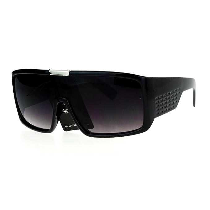 Amazon.com: Hombre Moda anteojos de sol futurista Shield ...