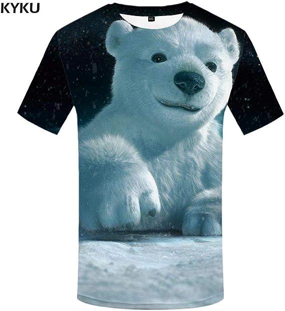 KYKU Camiseta psicodélica de los Hombres Divertidos Animado Camisetas Globo 3D Camiseta Impresa Punk Rock Camiseta gótica Colorida para Hombre Ropa Nueva: Amazon.es: Deportes y aire libre