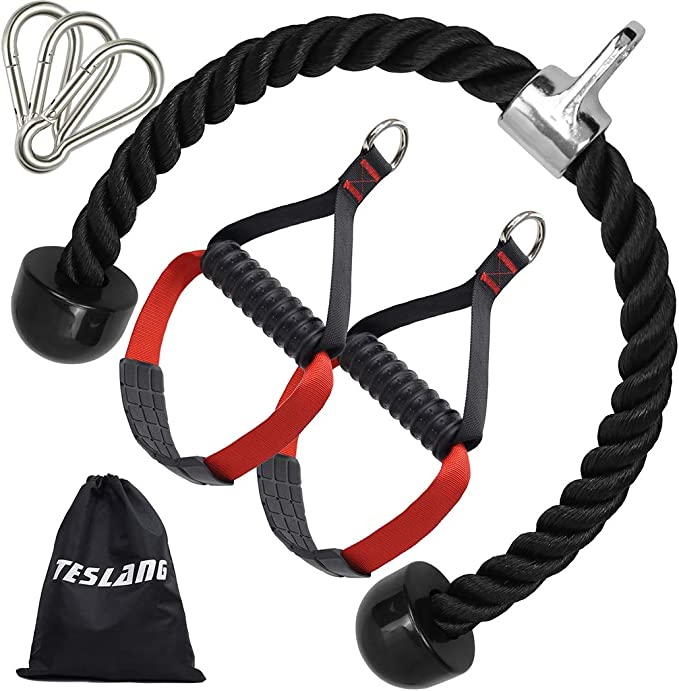 Pull Up Straps Handle Rope Cable Home Workout Fitness Gym Muscle Abs Sling Train