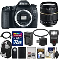 Canon EOS 70D Digital SLR Camera Body with 18-200mm XR Lens + 32GB Card + Flash + Battery & Charger + Backpack + Filter + Kit Key Pieces Review Image