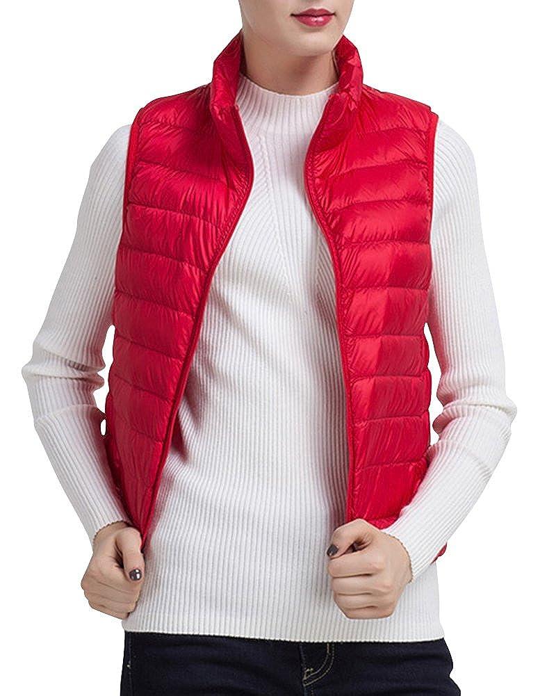 Ladies Gilet Body Warmer Women Down Vest Women Packable Lightweight Outwear Vest with Pockets