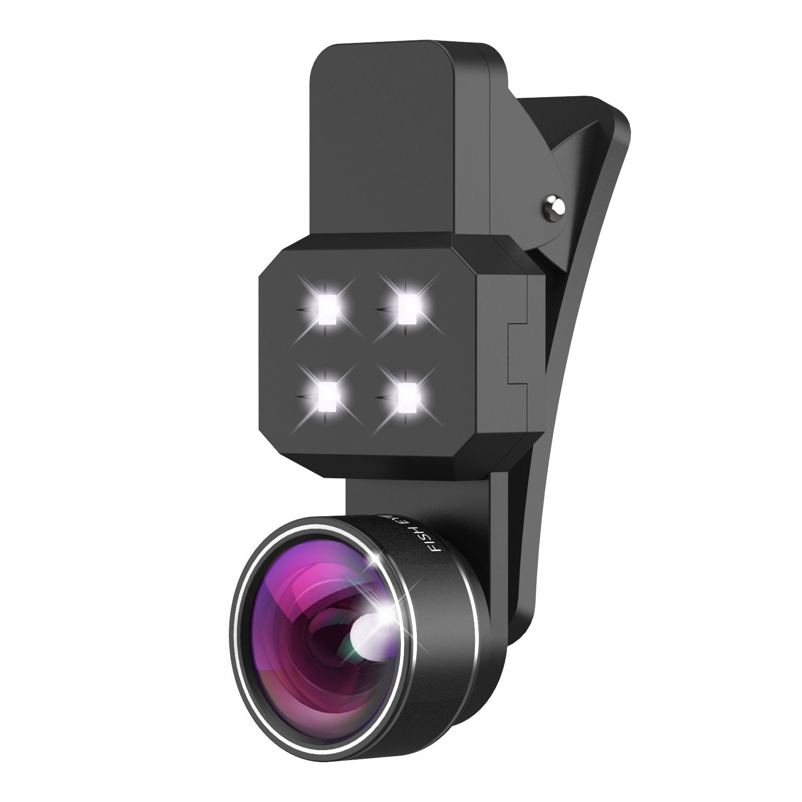 Kootek 4 In 1 198 Fisheye Lens With Beauty Led Fill Light 15X Micro Lens Plus.. 14