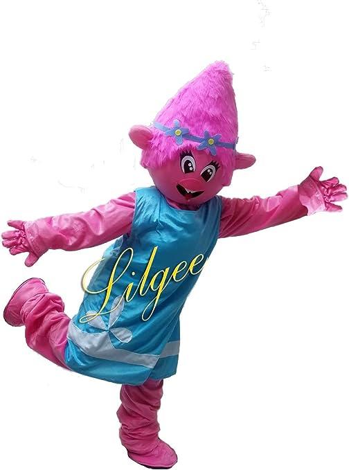 KF Poppy Troll Mascota Traje Adulto Character Trols: Amazon.es ...