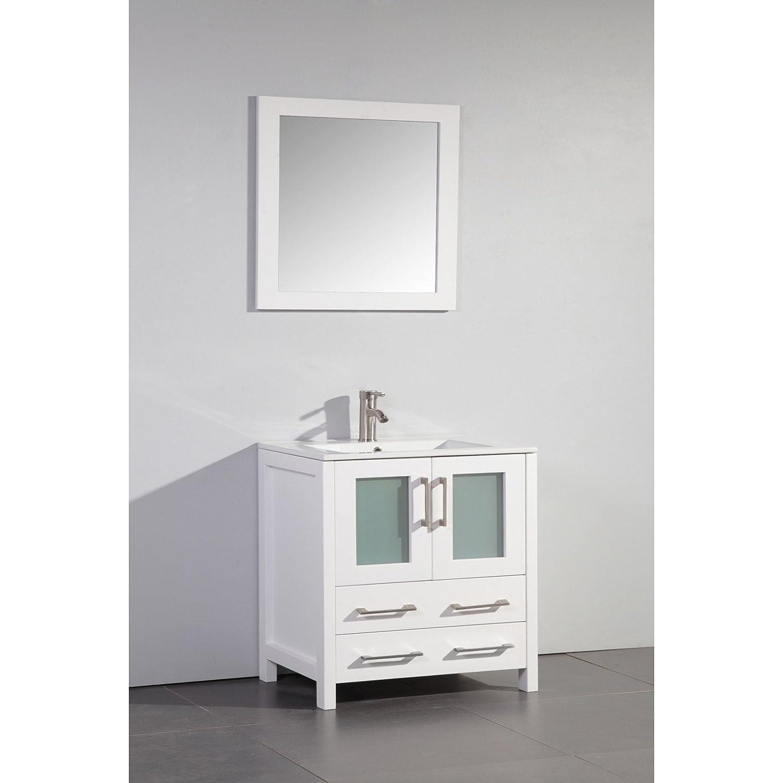 mirror size for 30 inch vanity. Vanity Art 96 inch Double Sink Bathroom Set with Ceramic Top  Free Mirror VA3030 G Amazon com