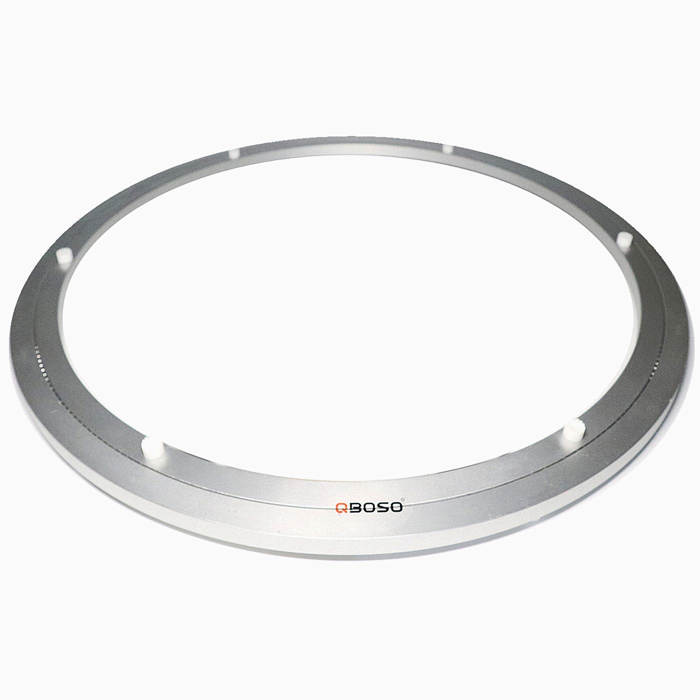 QBOSO Aluminum Lazy Susan Ring with Ball Bearing (24-Inch 80-500 Lb Load Capacity) Turntable Hardware for Round Dining Table Smooth Swivel Plate by QBOSO