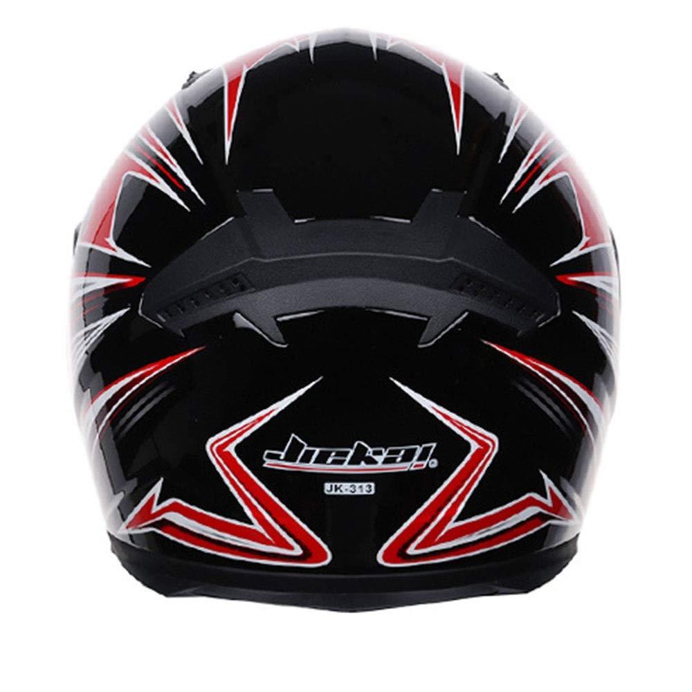 HYH オートバイヘルメットダブルレンズ機関車フルフェイスヘルメット通気性暖かいレーシングヘルメットヘルメット四季防水(取り外し可能な襟を送る) いい人生 (Size : XXL) XX-Large  B07S1DH8FH