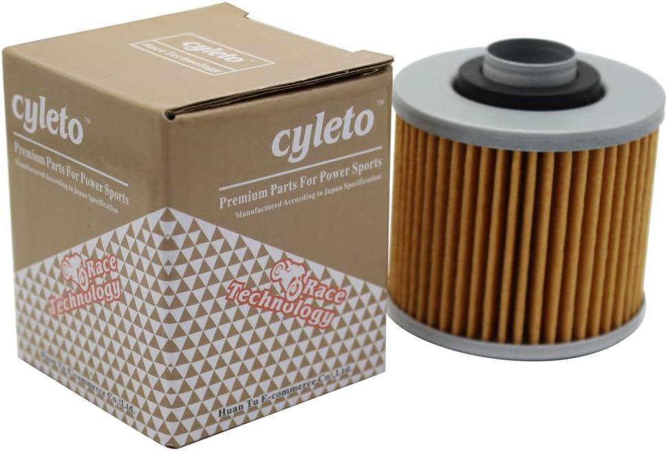 Cyleto Filtre /à huile pour Yamaha XVS400 XVS 400 DRAGSTAR 400 1996-2007 XVS650 XVS 650 DRAGSTAR 650 1996 1997 1998 1999 2000 2001 2002 2003 2004