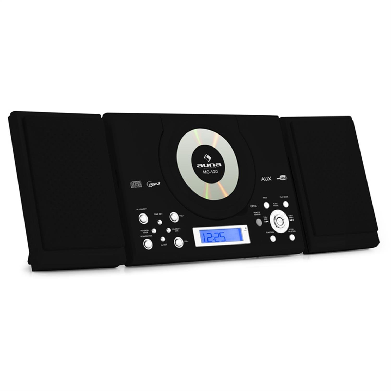 Auna MC-120 Equipo Estéreo CD MP3 USB AUX Negro (Radio FM, memoria 30 emisoras, reloj despertador, alarma,pantalla LCD, mando a distancia): Amazon.es: ...